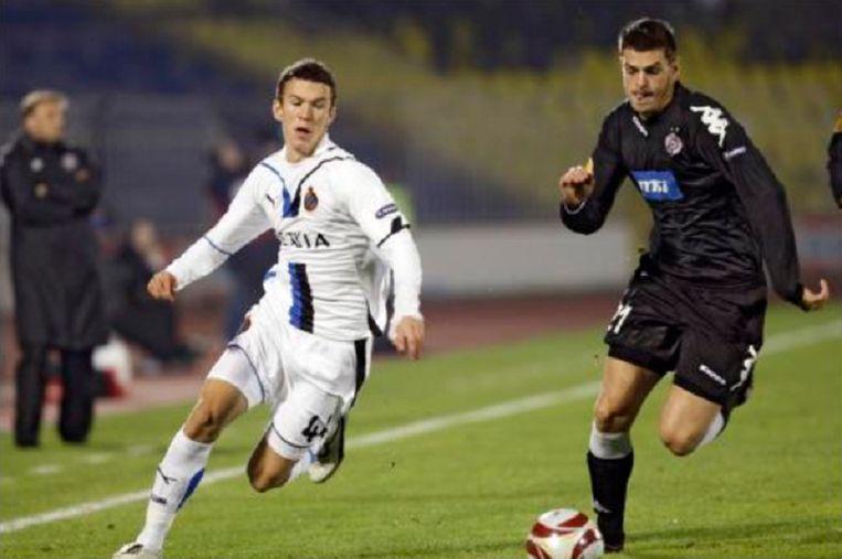 Ivan Perisic met Club op bezoek bij Partizan.