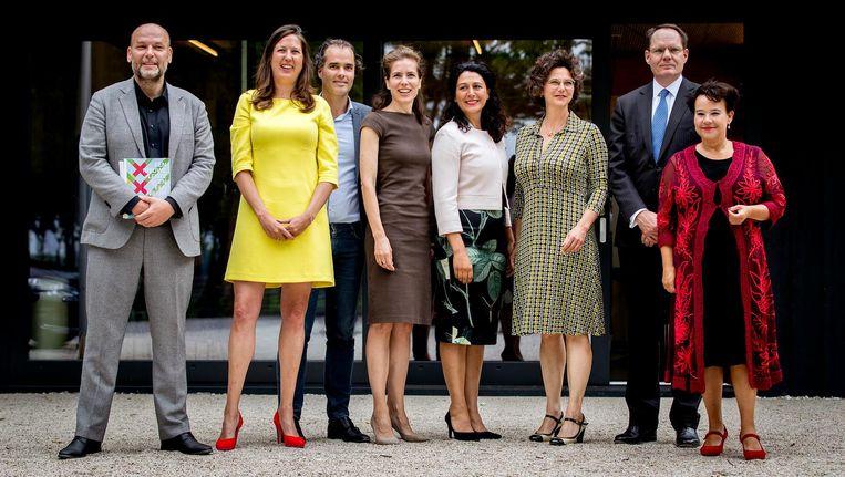 De nieuwe wethouders van Amsterdam Beeld ANP