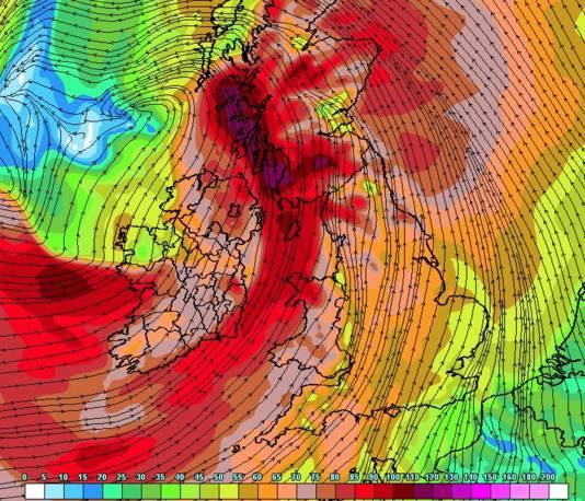 Ierland en Schotland krijgen dinsdag zware tot zeer zware windstoten voor de kiezen