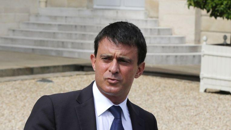 Minister Manuel Valls van Binnenlandse Zaken Beeld null