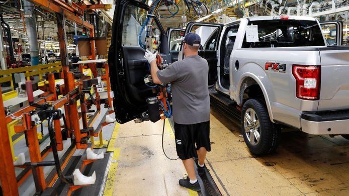 Een Ford-fabriek in de Verenigde Staten