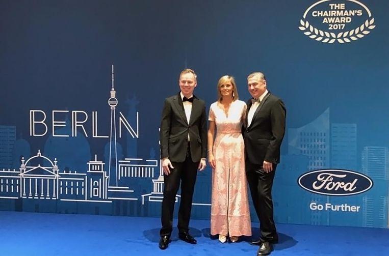 Ben De Groof en zijn echtgenote Françoise Cobbaert mochten in Berlijn de award in ontvangst nemen.