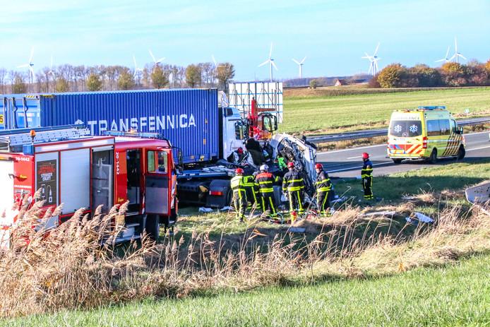 Ernstig ongeluk op de A4 richting Bergen op Zoom.