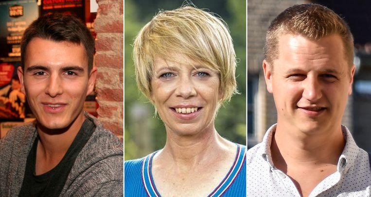 Conner Rousseau, Anja Van Robaeys en Niels Tas (v.l.n.r.).