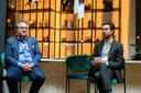 Schepen Koen Kennis stelde de zesde editie van Smaakmeesters voor in restaurant Fiera, hier met Lorenz Lievens van Fiera.