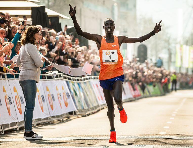Marathon Rotterdam, 25 oktober. Beeld Jiri Buller