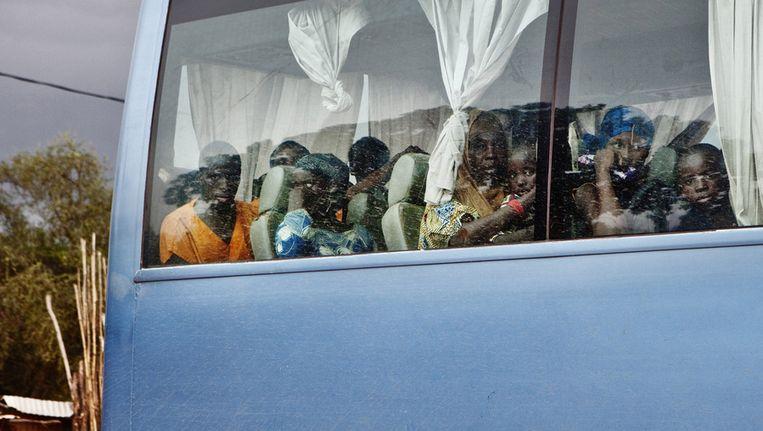 Buspassagiers in Mopti, Mali. Beeld ap