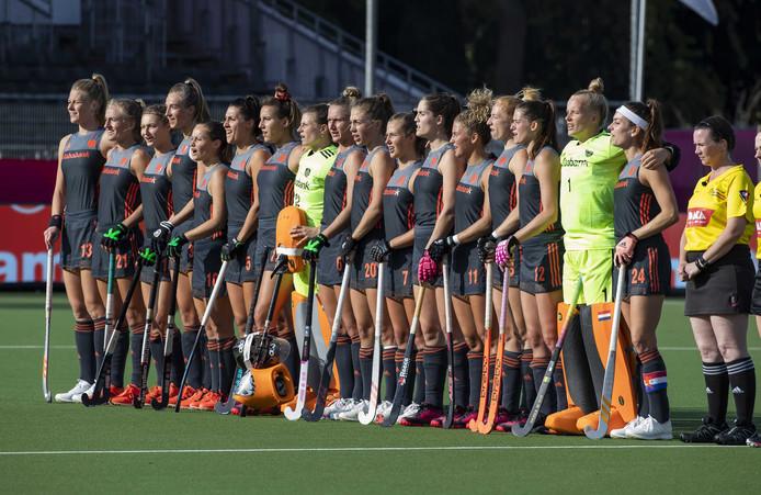 De hockeyvrouwen van Oranje.