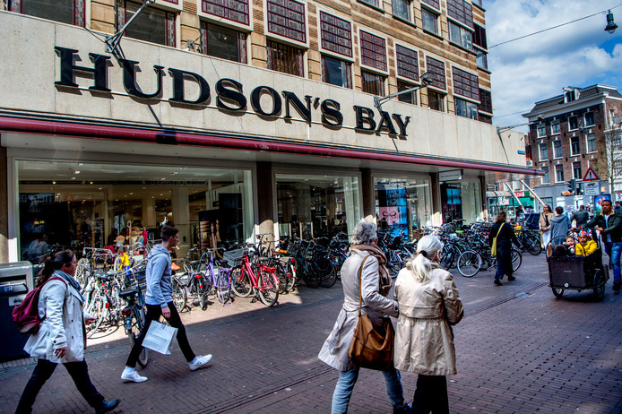 De in april 2018 geopende vestiging van Hudson's Bay in Haarlem
