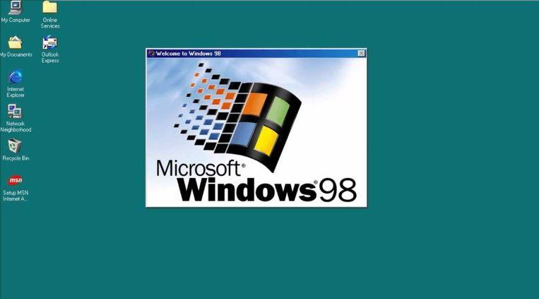 Zo zag Windows 98 eruit Beeld null