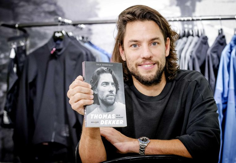 Thomas Dekker met zijn boek Mijn Gevecht Beeld anp