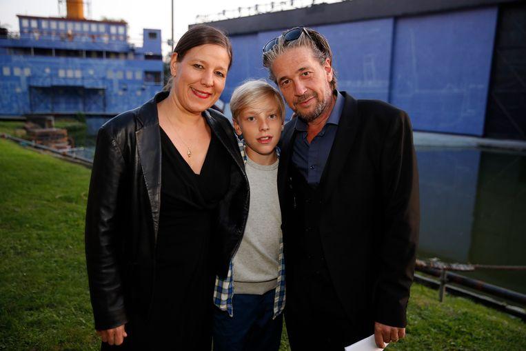 Dries Vanhegen bracht vrouw Twiggy en zoon Maurice mee.
