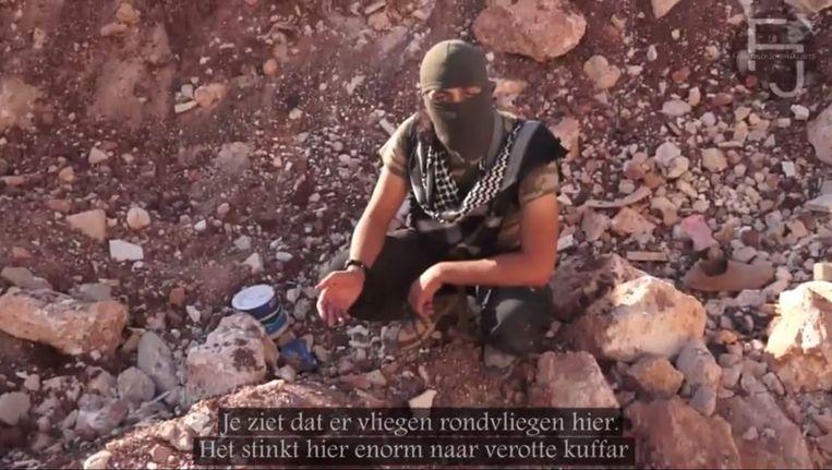 Beeld uit de djihadvideo