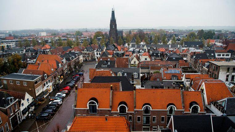 Het centrum van Weesp met in het midden de Sint-Laurentiuskerk. Beeld anp