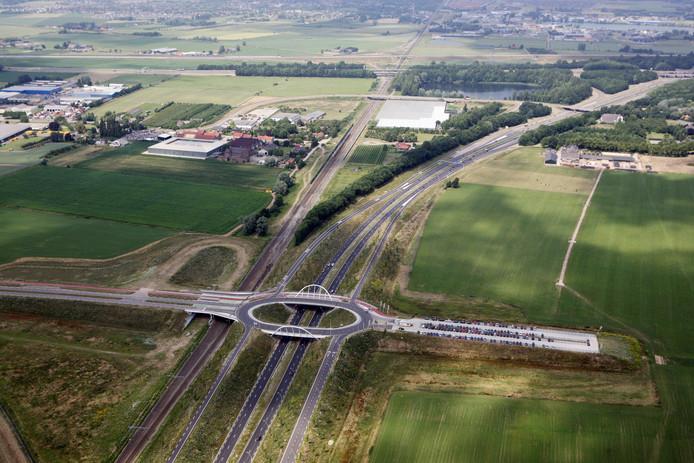 Het transferium bij de Ovatonde tussen Nijmegen en Ressen. Archieffoto