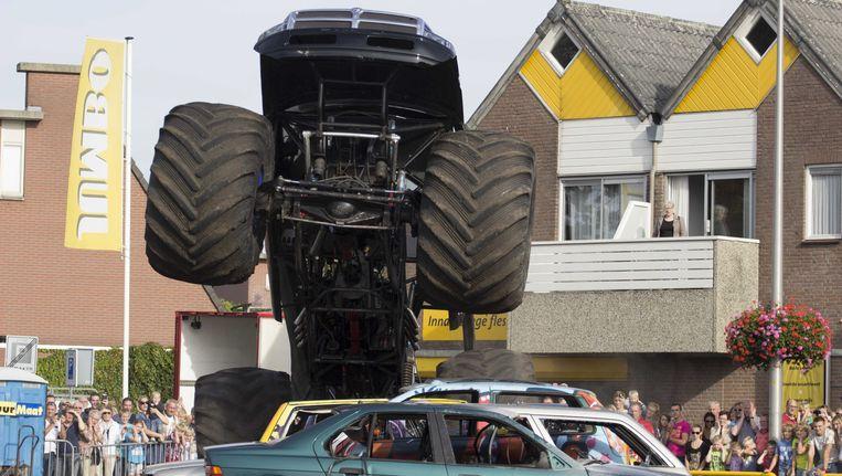 Een monstertruck in de gemeente Haaksbergen.
