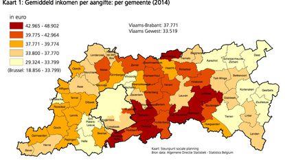Linden heeft grootste verdieners, Leuven kleinste inkomens