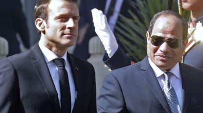 Macron bekritiseert schending van mensenrechten in Egypte