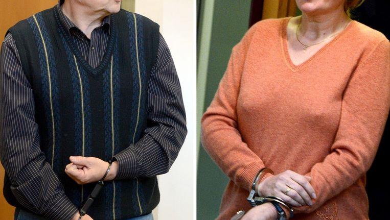 Het echtpaar Anschlag in de Duitse rechtszaal, Beeld afp