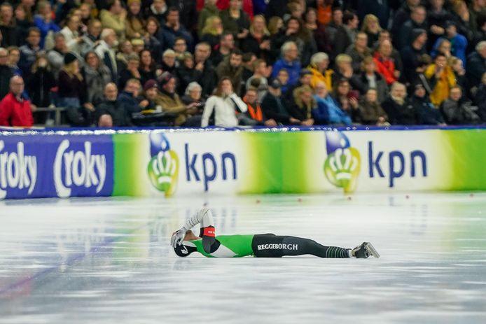 Ronald Mulder viel op de 500 meter op de NK sprint