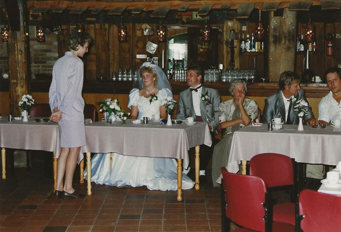 De bruiloft van Gerja en Harm van Milgen in de Bierton in Zwolle.