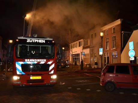 Grote brand in centrum van Zutphen