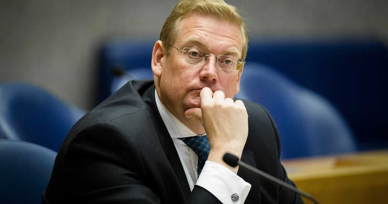 Minister Van der Steur van Veiligheid en Justitie in de Tweede Kamer. Beeld anp