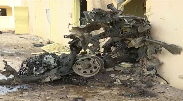 Beelden uit video-opnamen van de aanslag zondag in Goa, het noorden van Mali, waar Franse militairen doelwit waren. Beeld AFP