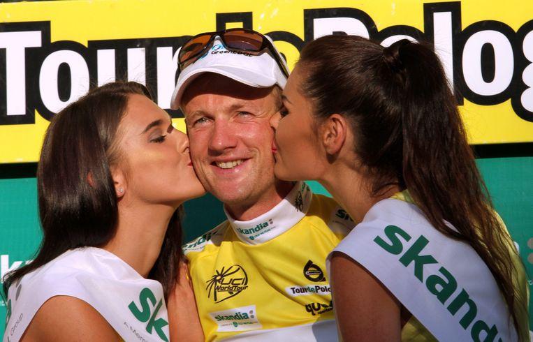 Pieter Weening in betere tijden als winnaar van de Ronde van Polen.. Beeld epa