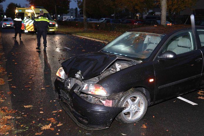 Veel schade aan desbetreffende auto.