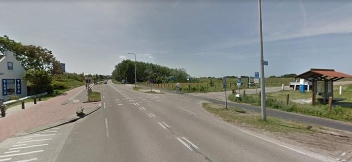 Haagweg, ter hoogte van het Schelpenpad, in Monster.