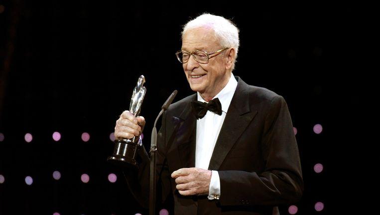 De Britse acteur Michael Caine ontving de prijs voor beste Europese acteur voor zijn rol in de film Youth. Beeld afp