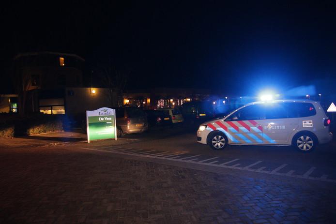 Politie na de overval bij vakantiepark De Vers in Overloon.