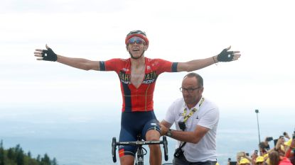 """Teuns wint rit in de Tour: """"De slotklim was zenuwslopend"""""""
