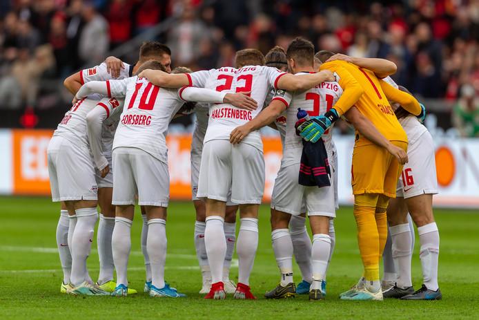 De spelers van RB Leipzig.
