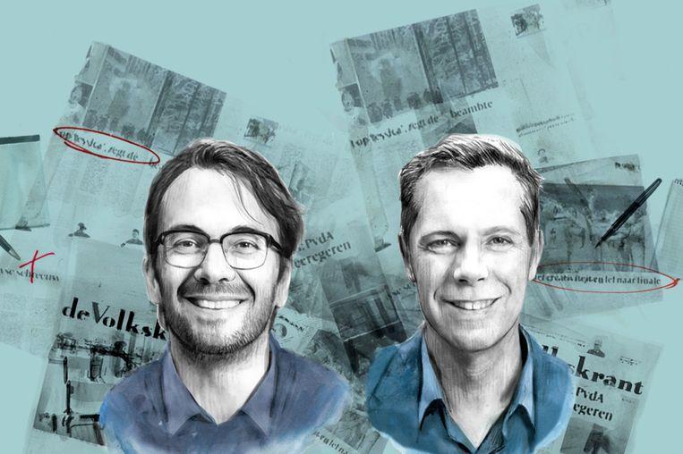 Plaatsvervangend hoofdredacteur Pieter Klok (links) en hoofdredacteur Philippe Remarque Beeld
