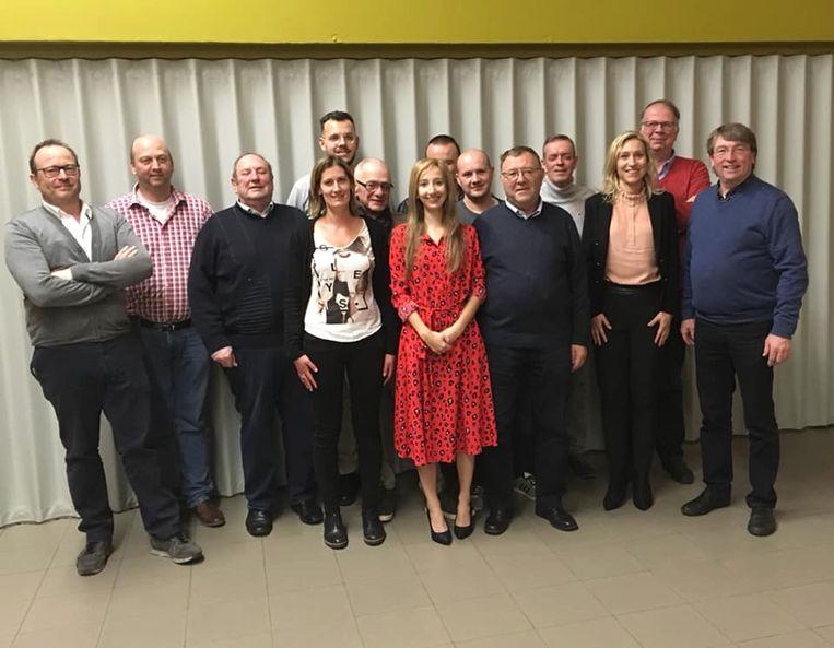 Het nieuwe bestuur van N-VA in Lochristi.