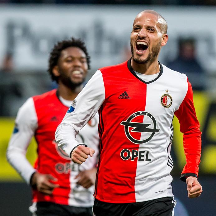 Karim El Ahmadi juicht na zijn 0-1.