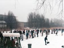 Heel Charlois liep uit voor schaatspret op het Waaltje
