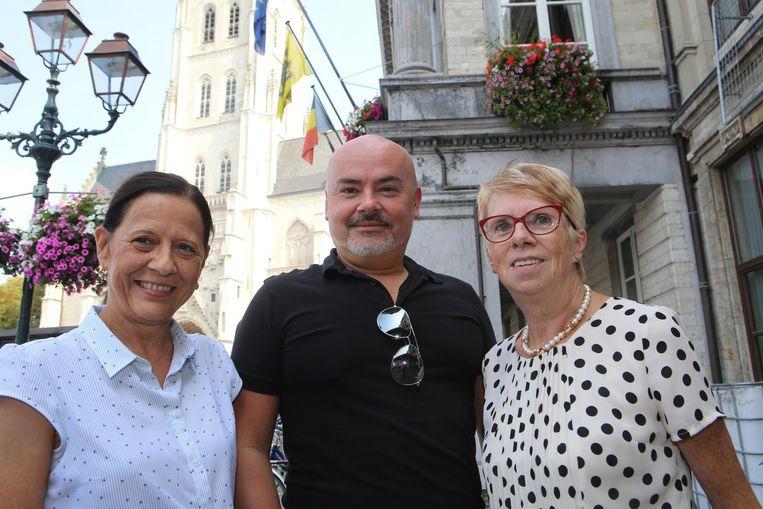 Marie-Claire Loozen, Nico Degroodt en Annemie Minten van de Burgerpartij.