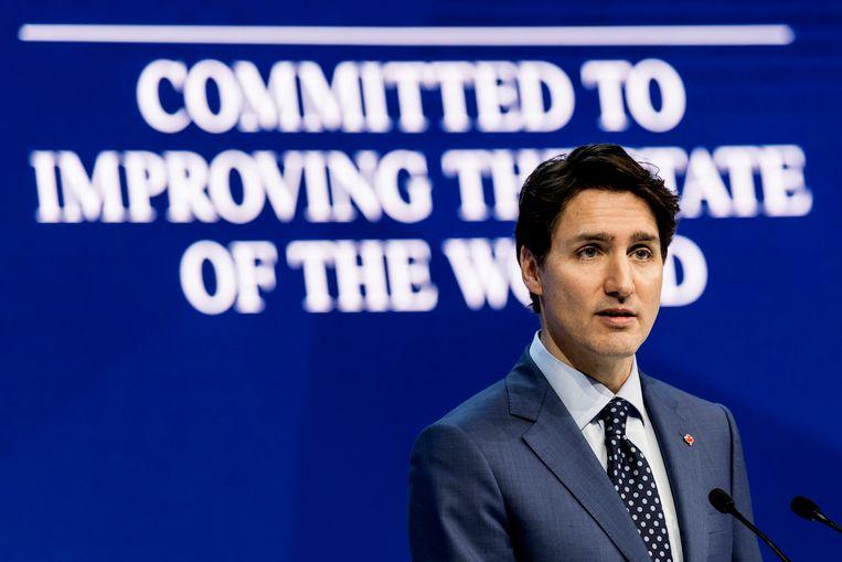 Trudeau is een van de vele prominente gasten op het Wereld Economisch Forum (WEF) in Davos, Zwitserland.