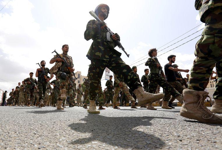 De Houthi's hebben op dit moment nog de controle over de havenstad.