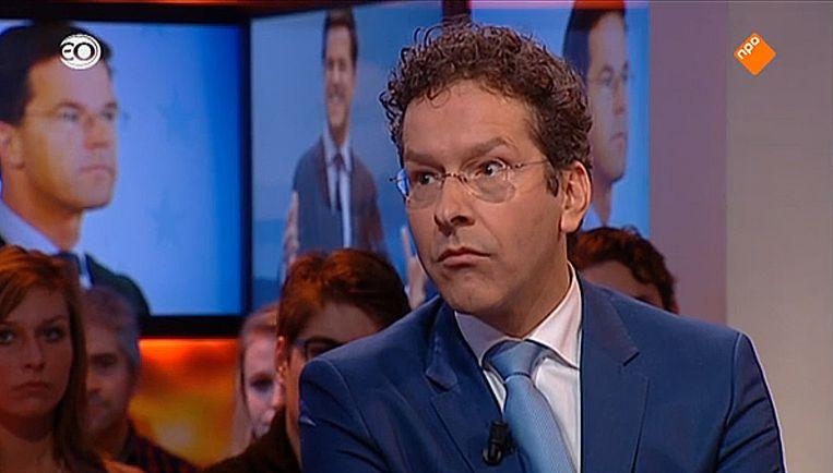 Jeroen Dijsselbloem bij Knevel & Van den Brink Beeld Videobeeld