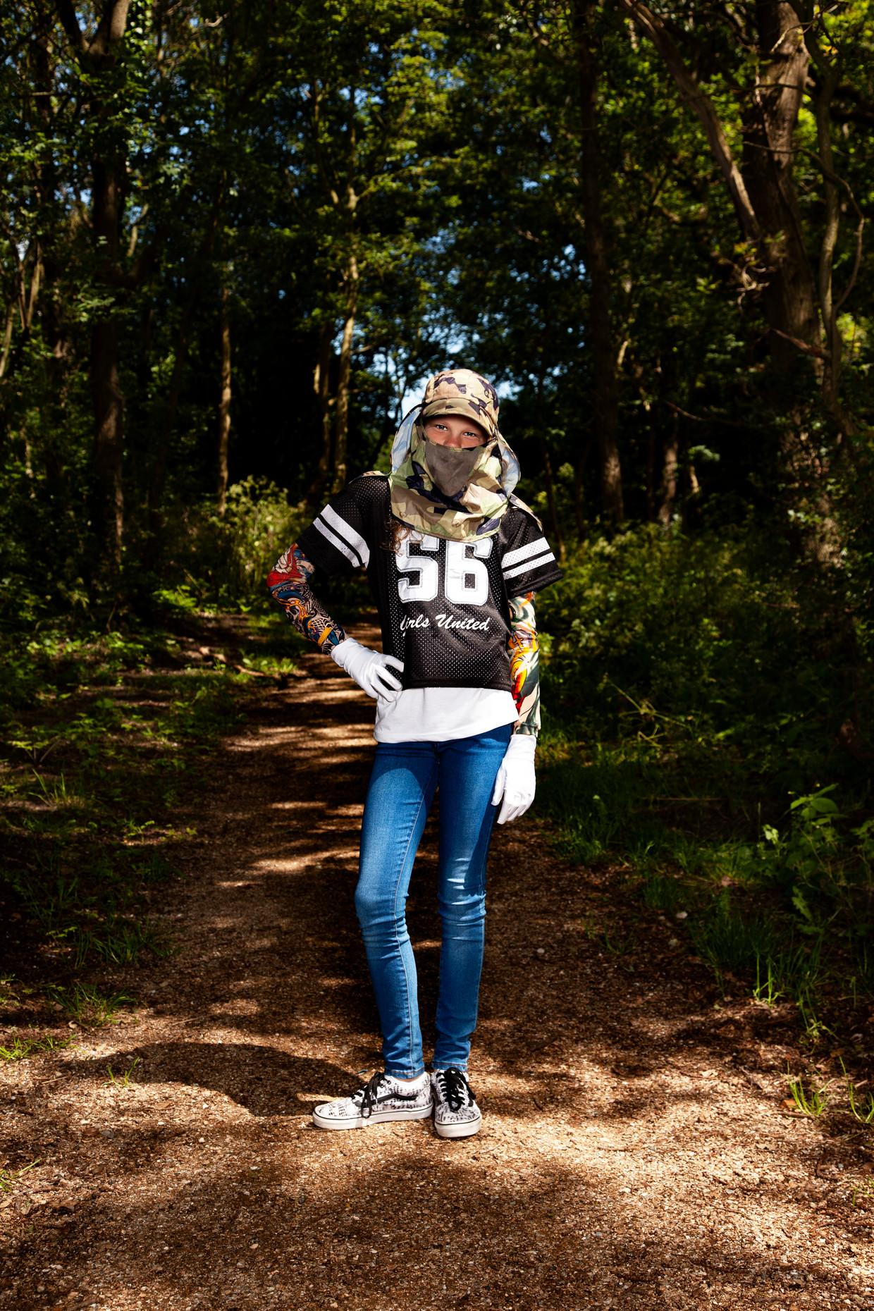 Yazz Quist (12): 'Ik ben best wel eigenwijs, dus zoveel kleding als ik op de foto draag heb ik niet vaak aan. '