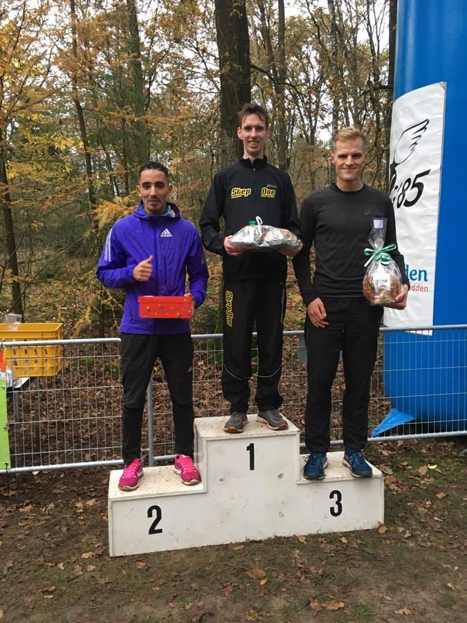 De eerste drie van de 10 kilometer: winnaar Danny Koppelman, Mohammed Koula behaalde de tweede plaats en derde werd Menco Schuurman.