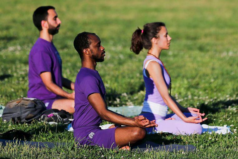 Er zouden zo'n 11.000 yogadocenten in Nederland zijn Beeld anp