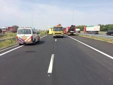 Files op A50 bij Ewijk na ongeval met vrachtwagen