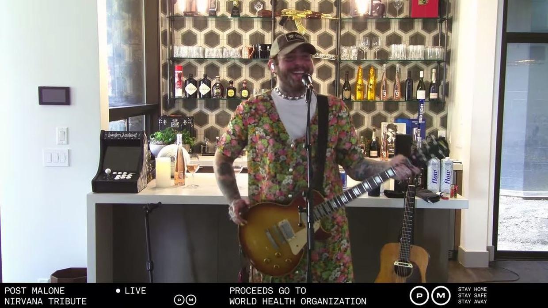 Post Malone's Nirvana-livestream Beeld YouTube