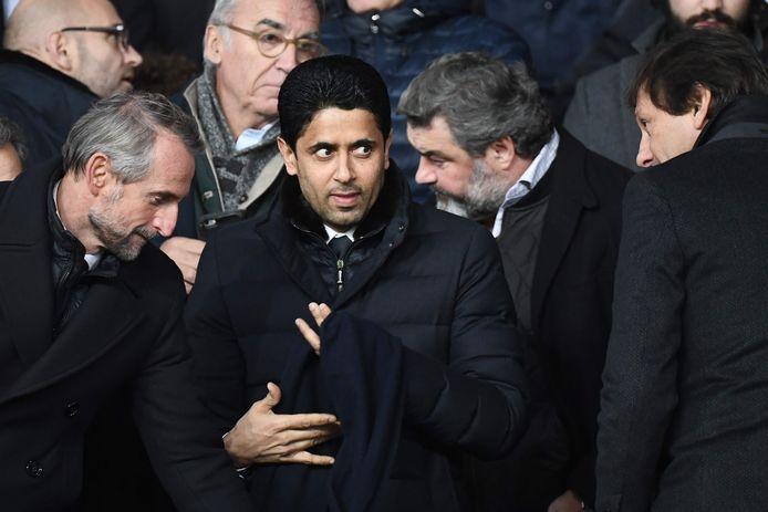 Le président du PSG, Nasser Al-Khelaifi, au Parc des Princes à Paris