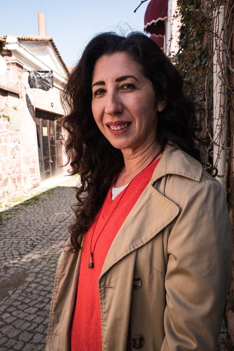 Journalist Nilgun Kaya. Beeld Nicola Zolin